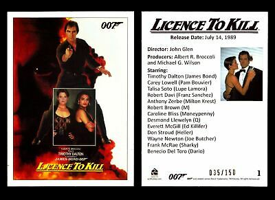 James Bond Classics 2016 Licence To Kill Gold Foil Parallel Card You Pick Number