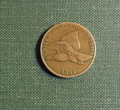1857 Flying Eagle Cent Nice Tan Color