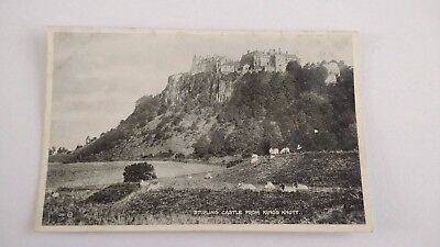 Stirling Castle from Kings Notty Vintage Postcard