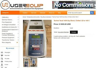Techne Tecal 140H Dry Block, Chilled -22 to 140 C Fluke