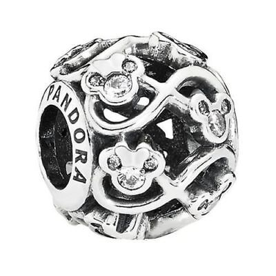 New PANDORA CHARM 925 sterling silver Retired DISNEY MICKEY AND MINNIE INFINITY