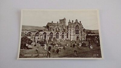 Melrose Abbey From South West Vintage Postcard
