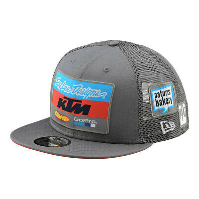 New 2018 Troy Lee Designs Tld Ktm Team Lic Snapback Hat Charcoal & Navy