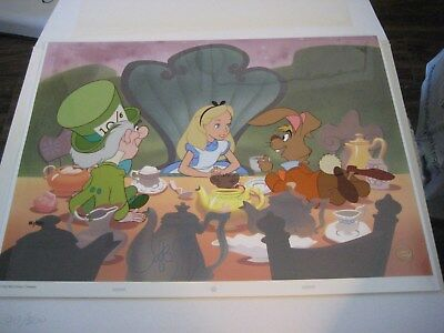 Disney Alice in Wonderland Mad Tea Party Limited Edition Cel #80/500 1991