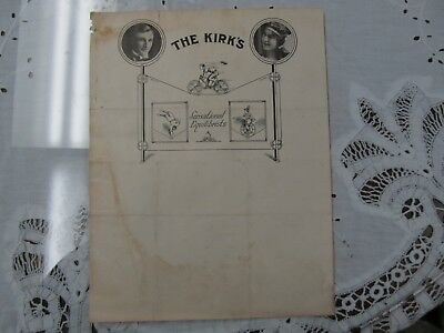 The Kirks Circus Equilibrist/cyclist Letterhead