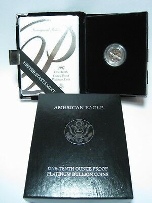 1997 American Eagle Platinum 1/10 Oz Proof Bullion Coin ~ No Reserve