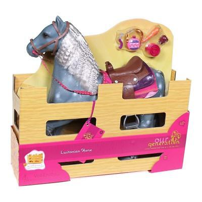 """NEW Our Generation from American Girl 20"""" Horse Lusitano Sturdy Food Hair Brush"""
