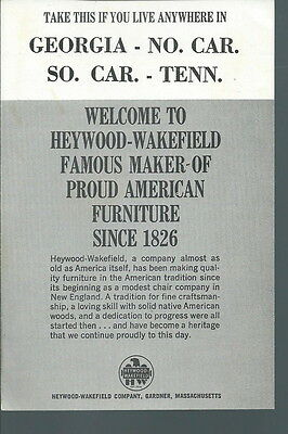 AF-003 - 1964 New York Worlds Fair Heywood Wakefield Cutting Board Offer Vintage