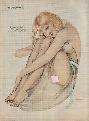 "Original Vargas Playboy Pin-Up ""What Are You Watching?"""
