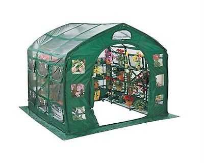 FarmHouse 9 ft. x 9 ft. PVC Greenhouse Home Growing Safe Plant Shelter Garden