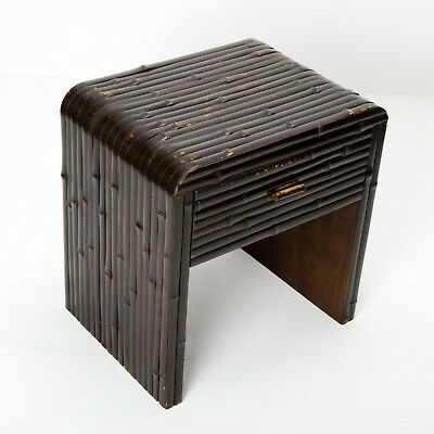 MODERNIST ANGLO-EASTERN ART DECO SIDE TABLE Vintage Bedside Table Small Console