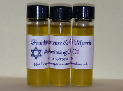 LOT of 3 vials -Simple Anointing Oil with Frankincense and Myrrh - GREAT GIFTS!