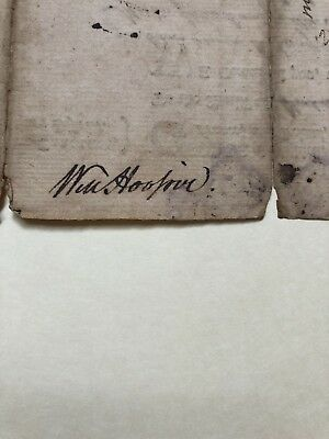 1772 William Hooper Declaration of Independence Signature on Tryon, NC writ