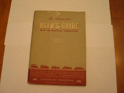 Vintage 1950's The Automobile User's Guide 8th Edition Revised GM General Motors