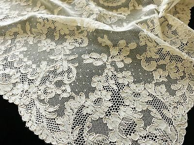 French Alencon Lace Antique Placemats, Napkins & Runner - Setting for 10