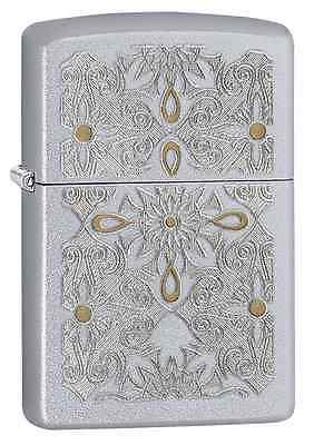 Zippo 28457, Filigree-Classical Curve, Satin Chrome Lighter, Pipe Insert (PL)