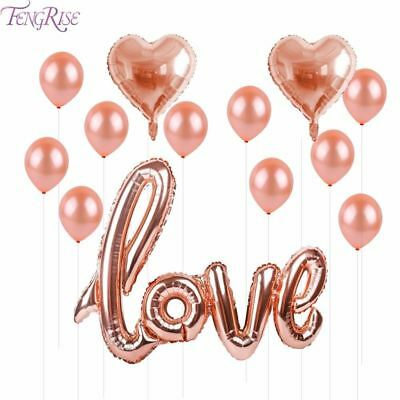 Rose Gold Love Letter Balloons Gold Champagne Cup Wedding Ballon Happy Birthday