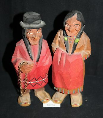 ThriftCHI ~ South American Wood Carving Figurines (2)