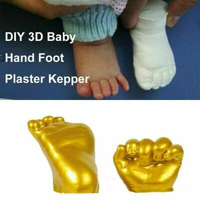 3D Plaster Handprint Footprint Baby Mould Hand&Foot Casting Prints Kit Cast (A)