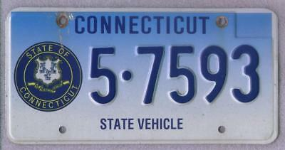 State of Connecticut 2002 issue Municiple License Plate 5-7593