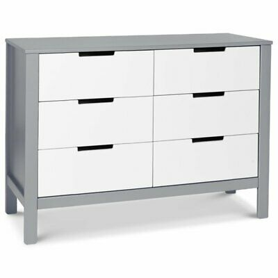 Carter's By DaVinci Colby 6-Drawer Dresser in Gray and White