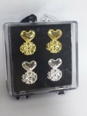MagicBax Earring Lifters - 2 Pairs of Adjustable Hypoallergenic Earring Lifts