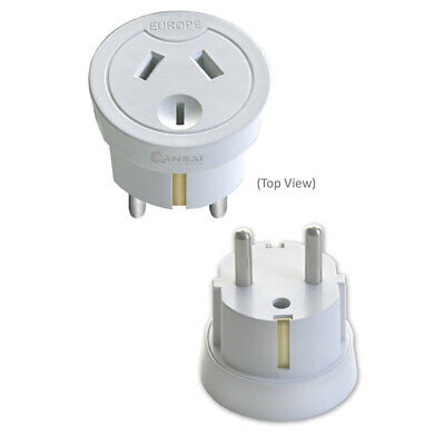 Sansai Travel Power Adapter Outlet AU/NZ Socket to Plug Asia EU/Bali/Middle East