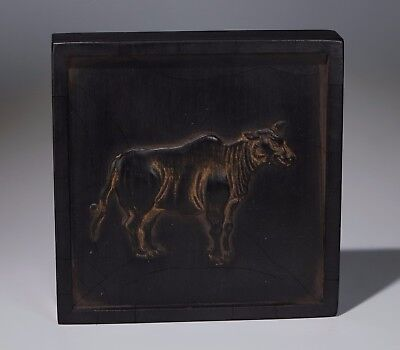 Antiques Traditional Chinese Black Inkstick / Ink Cake