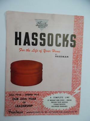 1956 Friedman Mfg Co. Hossocks Footstool Furniture Catalog Kansas City Vintage