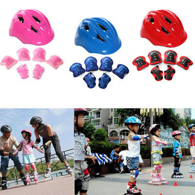New Children Kids Wrist Knee & Elbow Pads Protectors Skating Sports In 3 Colors