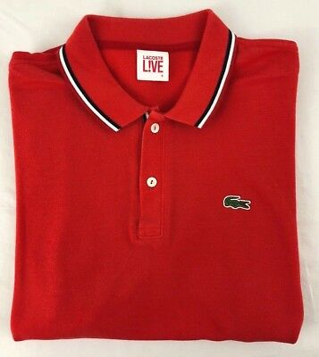 Lacoste Live Sz. Large (6) Red Polo Shirt! Barely Worn!