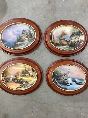 Kinkade Framed Ceramic Plates Limited Edition