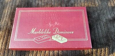 Vintage Puremco Marblelike Professional Dominoes Extra Thick FREE SHIPPING