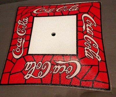 Vintage Coke Cola Ceiling Light Stained Glass Square Shade With Pebble Finish