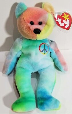 PEACE BEAR TY Beanie Baby - Original collectible Tie Dye -  15.00 ... 64c802c92f92