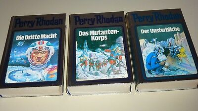 Perry Rhodan , Band 1 - 2 - 3 , Silber/ 3D Cover