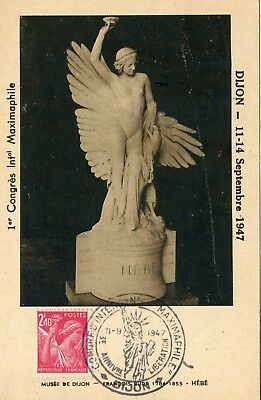 Carte Maximum Dijon 1947 / 1° Congres International De Maximaphilie / Liberation