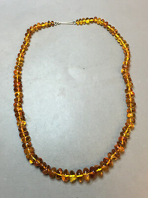 Natural Old Antique Yellow Butterscotch Baltic Amber Necklace