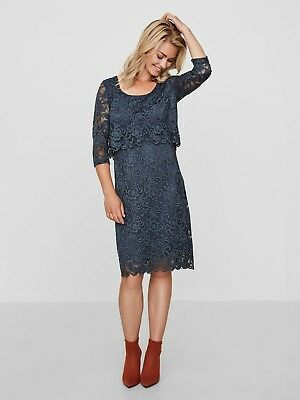 Mamalicious Nursing Dress Breastfeeding Navy or Red  £48 Lace Party UK SELLER