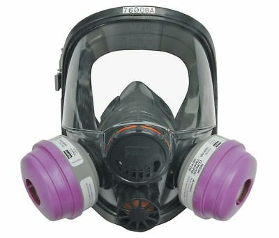 North Full Face Respirators, 7600 Series, Size M/L with P100 Particulate Filters