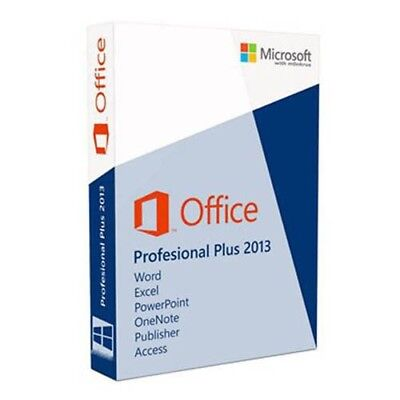 Microsoft Office 2013 Pro Professional Plus - Official Download & Key- 32/64 Bit
