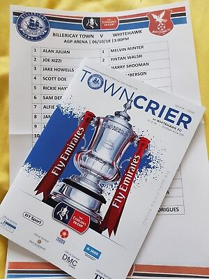 2018/19 Billericay Town v Whitehawk F.A.Cup