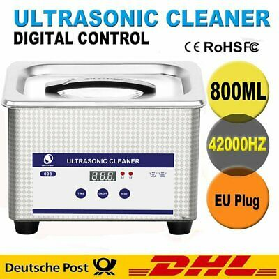 800ml Digital Ultrasonic Cleaner Ultra Sonic Bath Tank Jewellery Watch Cleaning