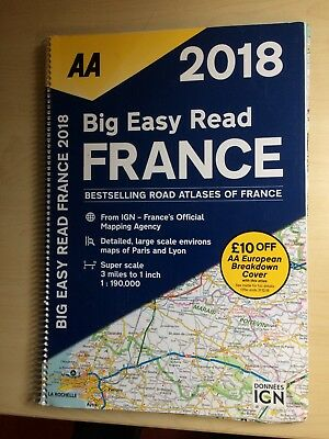 AA big easy read 2018 French road atlas