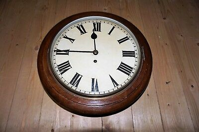 Antique 1956 Fusee 8 Day Chain Driven Drop Dial Station Clock - Signed & Stamped