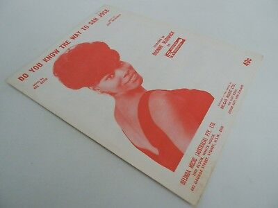 DO YOU KNOW THE WAY TO SAN JOSE? - feat Dionne Warwick - sheet music