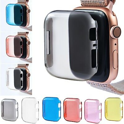 Full Body Bumper Case Cover Screen Protector For Apple Watch Series 4 40mm/44mm