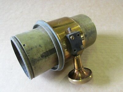 """Vintage 10"""" brass lens No. 48 with ratchet collar"""