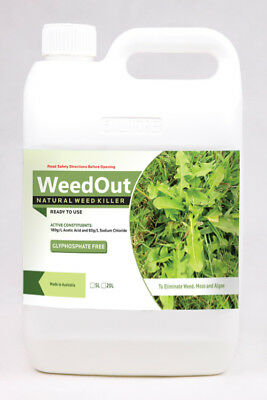 NEW Weedout Natural Organic WeedKiller No Glyphosate 5L Ready to Use
