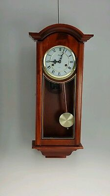 Lincoln 31 Day Vintage Vienna Style Wooden Cased Wall Clock